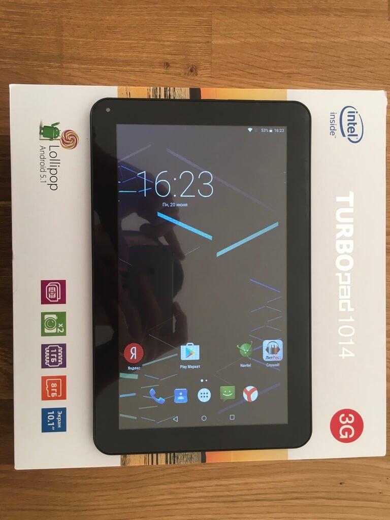TurboPad 1014i: обновленный планшет на Intel Atom X3 / Новости МетаМаркет