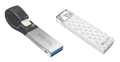 SanDisk iXpand Flash Drive и Connect Wireless Stick