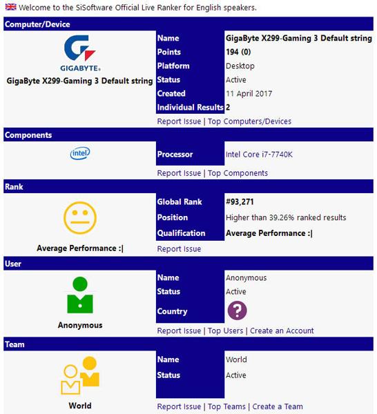 Intel i7-7740K Kaby Lake-X